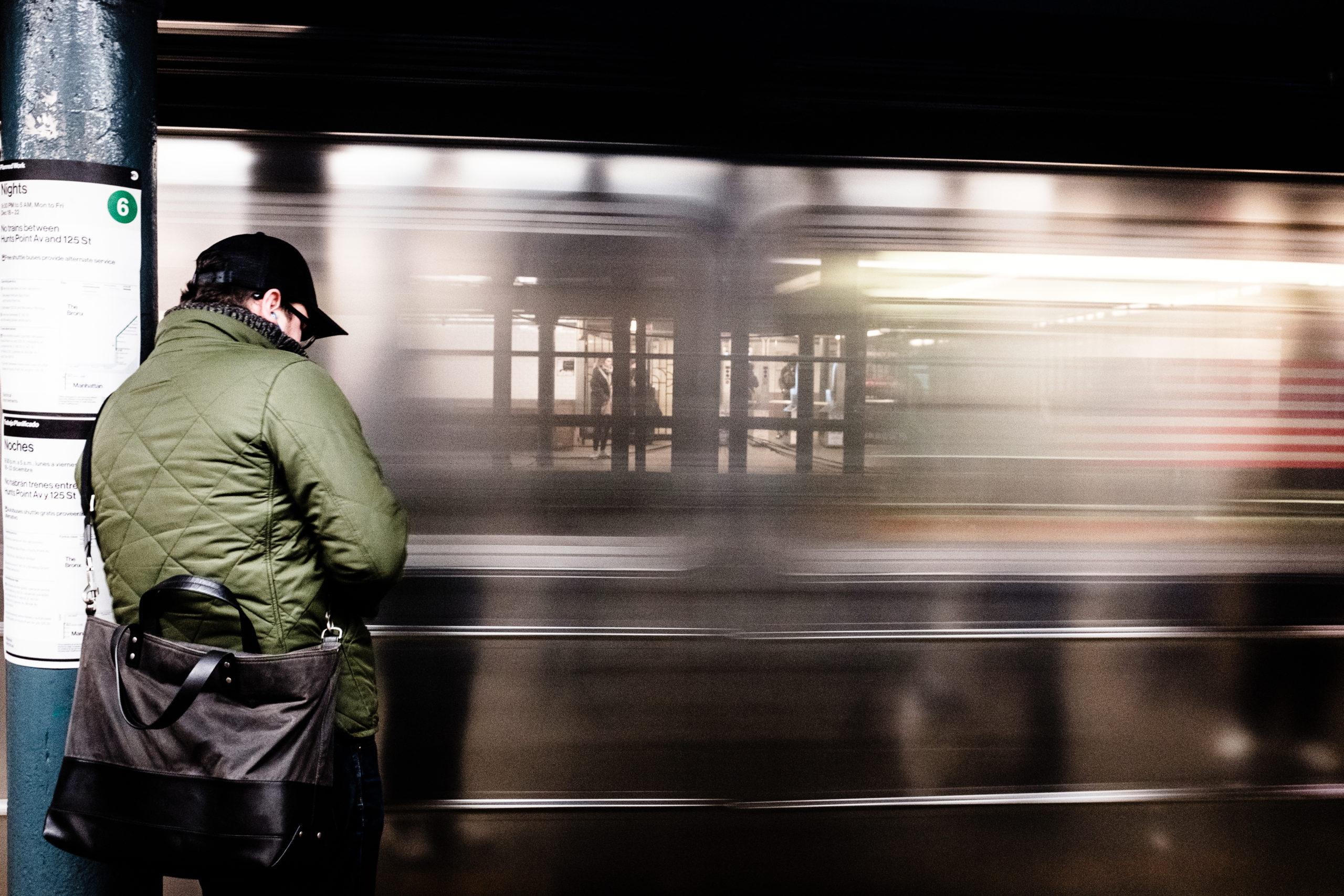 man underground subway