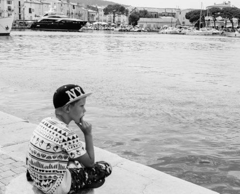 boy boat