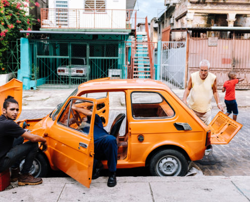 orange car repair mechanic