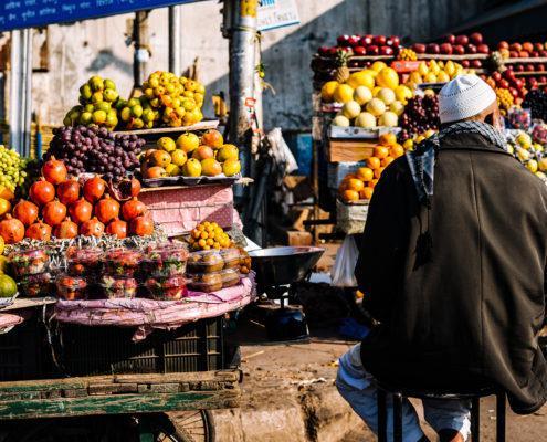 vegetable market man
