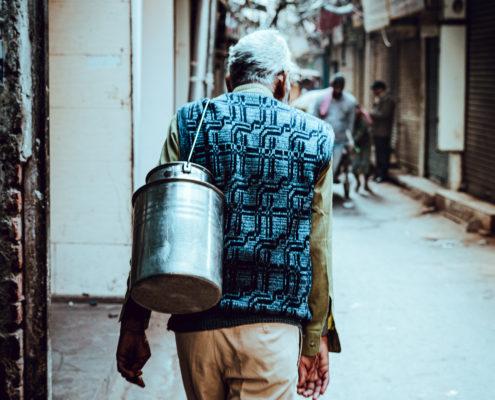 delhi india old man